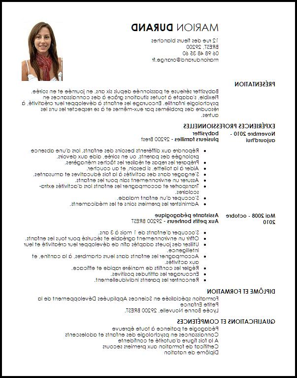 Est-ce qu'il faut signer un CV ?